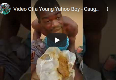 Yahoo Boy Caught Eating Human Feaces In Delta State (Disturbing Video)